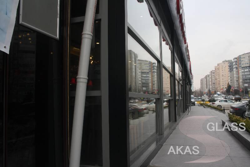 Панорамное остекление ресторана, система Skyline