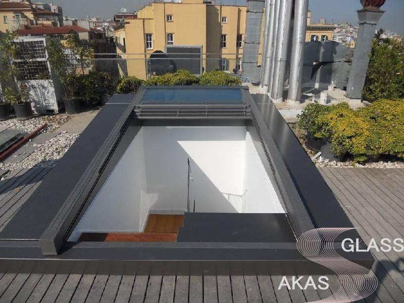 Автоматическая стеклянная крыша Skytech