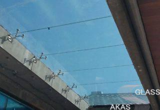 Стеклянная крыша на спайдерах