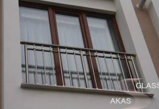 Алюминиевое ограждение балкона в доме