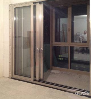Раздвижная балконная перегородка «Слайд»