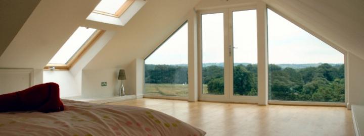 Панорамное мансардное окно