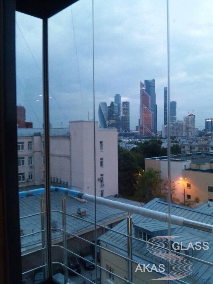 Французское остекление балкона, Москва
