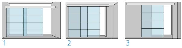 Виды типа крепления раздвижной двери