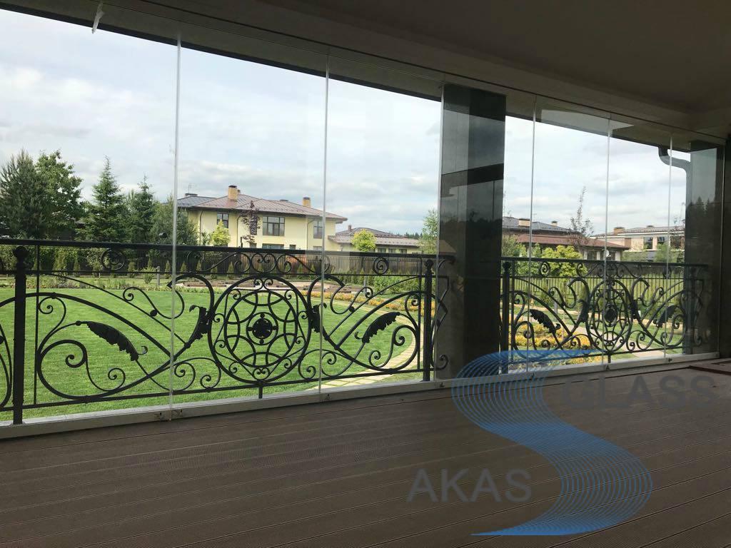 Безрамное остекление террасы и веранды, Москва