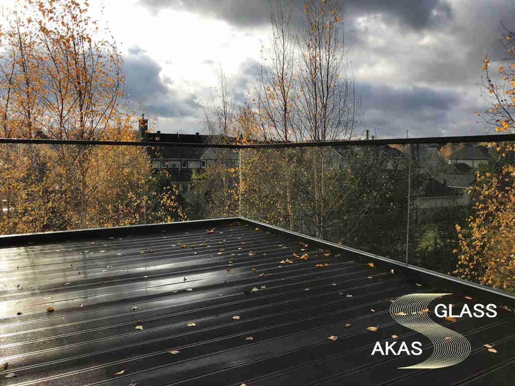 Стеклянное ограждение открытой террасы коттеджа, АКАС-Гласс Домодедово