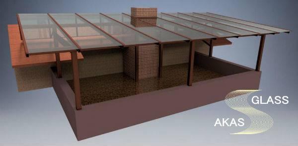 Дизайн проект стеклянной крыши от АКАС-Гласс