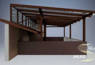 Дизайн проект стеклянной крыши