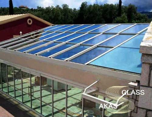 Стеклянная крыша skytech