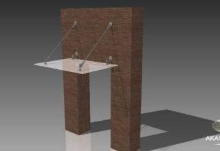 стеклянный навес, 3d-макет