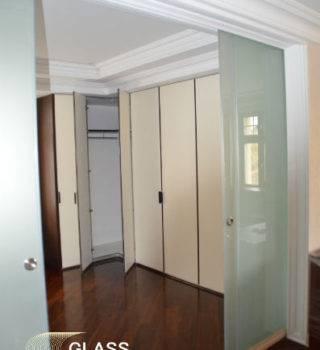 Стеклянные двери типа Слайд