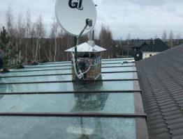 Изготовление и монтаж стеклянной крыши для террасы частного дома