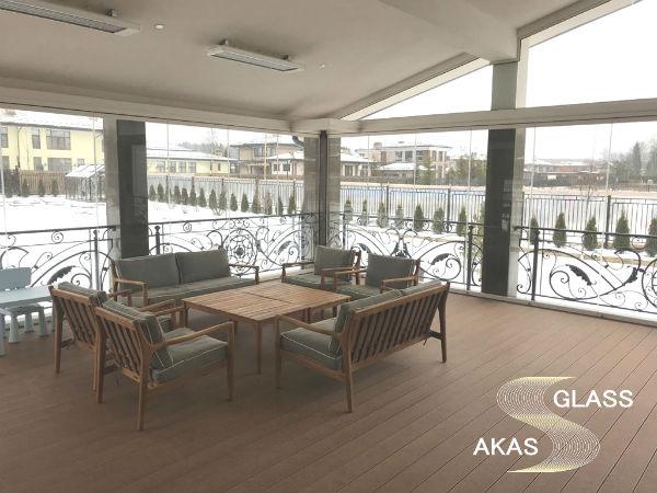 Остекление террасы от компании АКАС-Гласс, Московская область